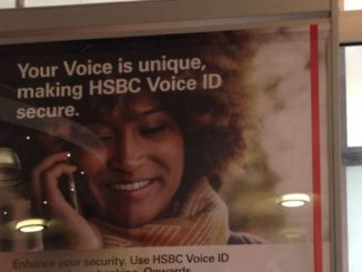 HSBC Voice Recognition Poster