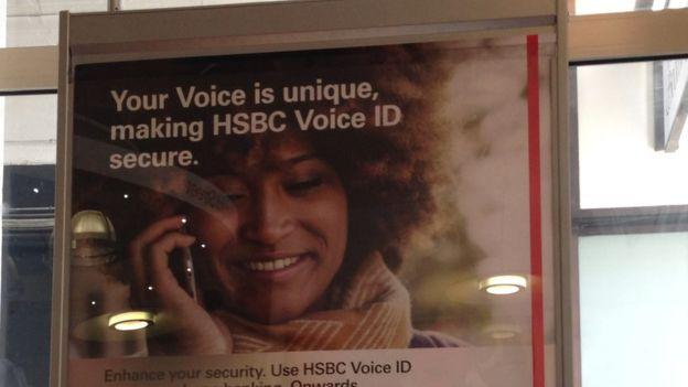HSBC Voice Recognition Poster