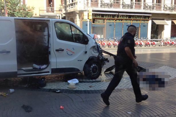 Barcelona attack van
