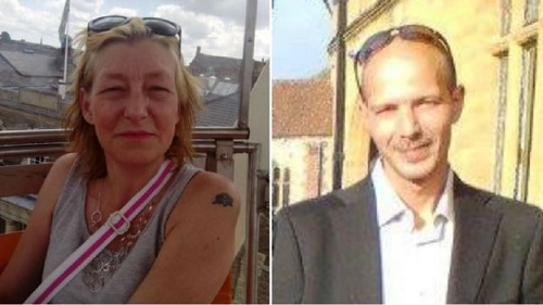 Dawn Sturgess and Charlie Rowley