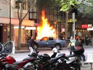 Bourke Street Melbourne fire