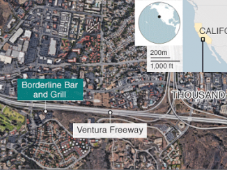 Thousand Oaks bar shooting map