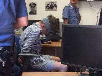Gabriel Natale Hjorth blindfolded