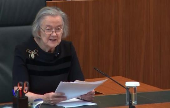Lady Hale delivering the Parliament Suspension decision