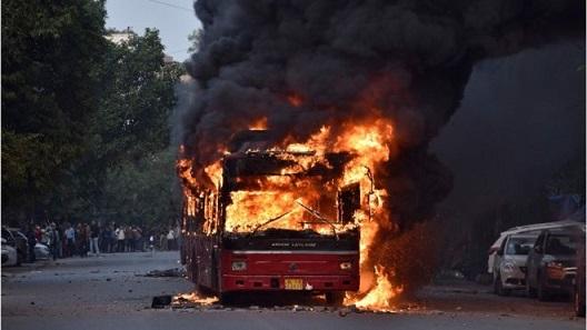 Delhi bus fire