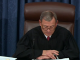Chief Justice Roberts reading impeachment result
