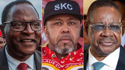 Lazarus Chakwera, Saulos Chilima and President Peter Mutharika