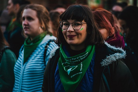 Argentina green scarf
