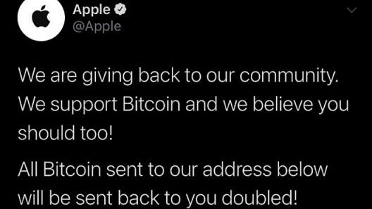 Apple hacked tweet