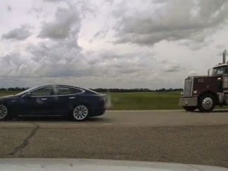 Tesla driver asleep