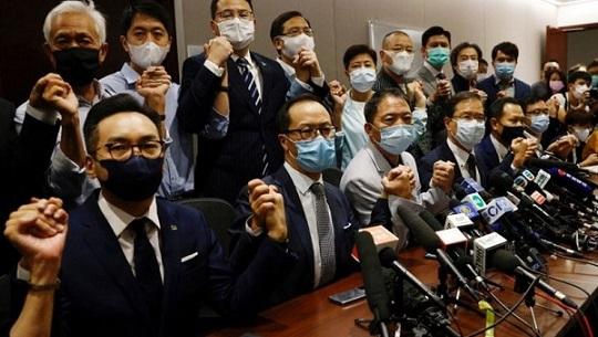 Hong Kong Pro-democracy lawmakers