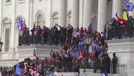 The US Capitol building invaded