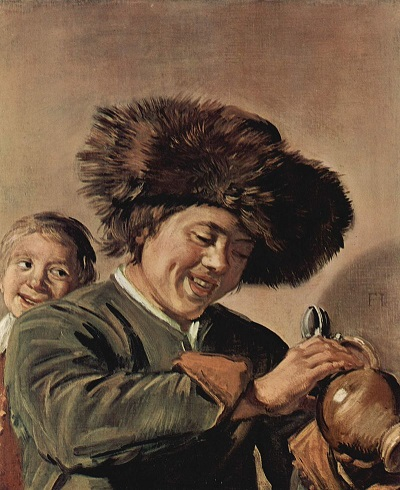 Frans Hals's Two Laughing Boys with a Mug of Beer