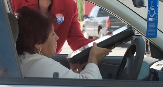 Texas curbside voting