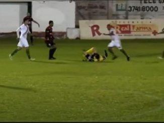 Ribeiro kicking referee