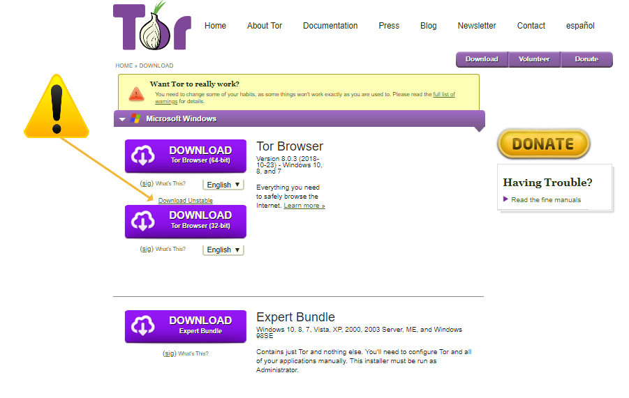 TOR for Windows