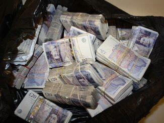 English money seized