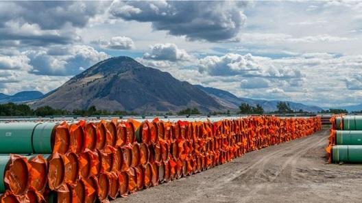 Trans Mountain pipeline construction