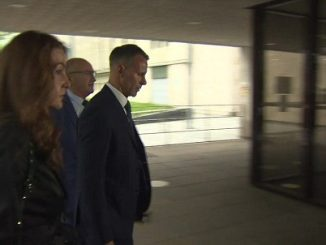Ryan Giggs arriving at court
